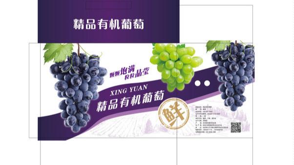 葡萄水果包装盒设计-展开图
