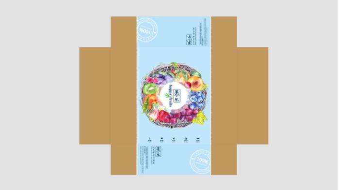 水果包装盒设计-展开图