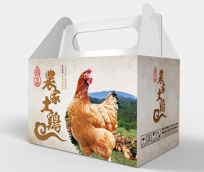 农家土鸡包装盒-主图