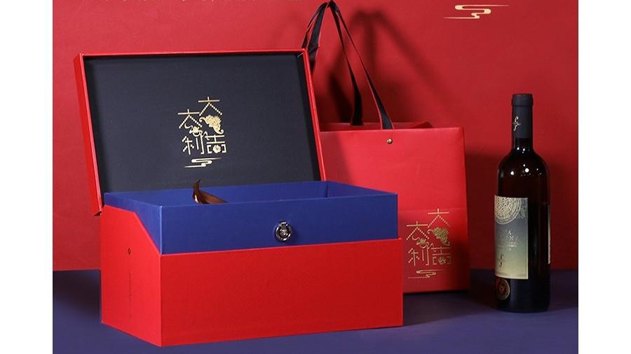 大吉大利【红酒礼盒】-定制-厂家-规格-图片