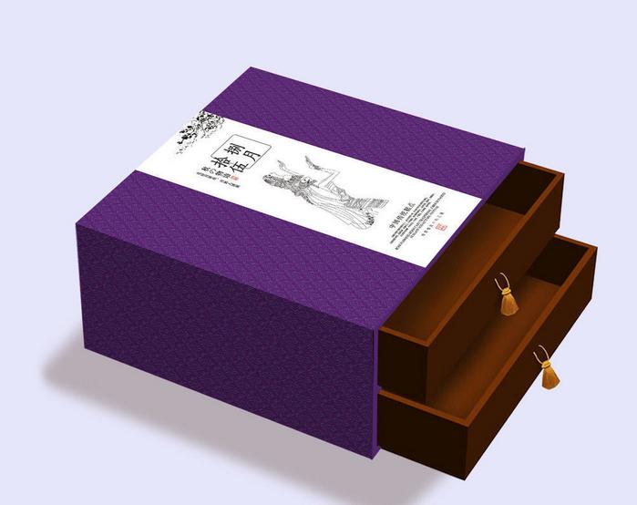 清新淡雅月饼包装盒-主图