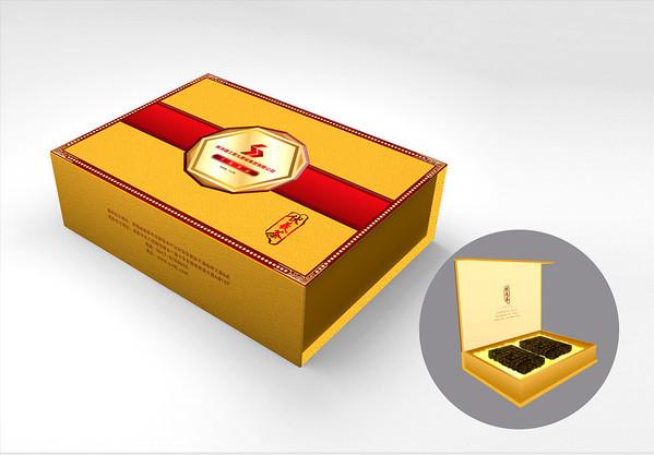 金色富贵茯茶叶包装盒设计-主图