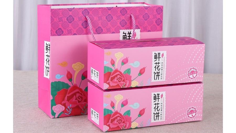 鲜花饼盒【食品卡盒】-定制-厂家-规格-图片