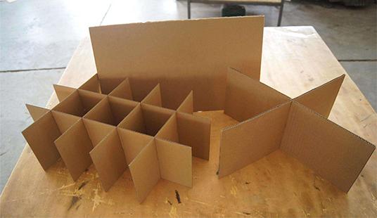 瓦楞纸箱内十字隔板定做