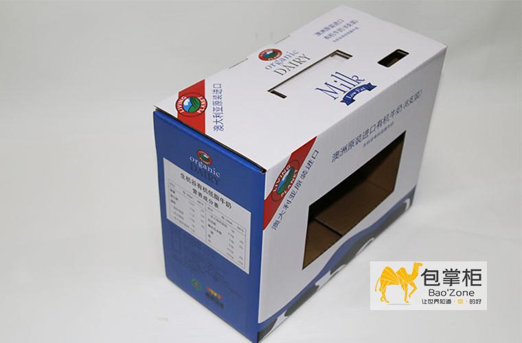 澳洲生机谷牛奶瓦楞彩箱