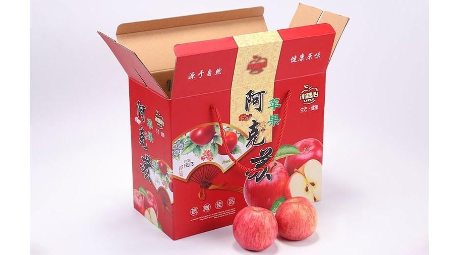苹果【水果彩箱】-定制-厂家-规格-图片