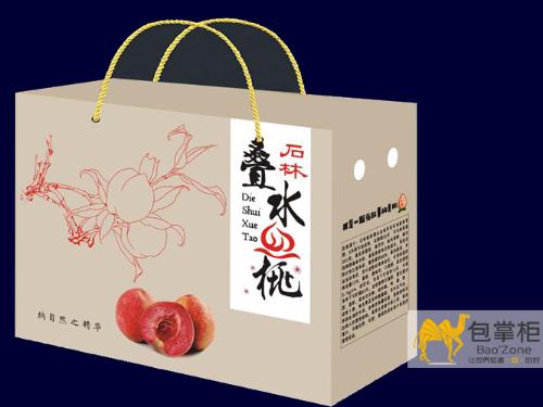 桃花开尽,桃香已浓!石林·板桥叠水血桃彩箱包装盒定做